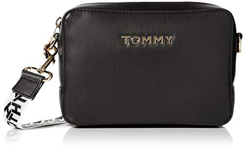 Tommy Hilfiger Damen Iconic Tommy Camera Bag Umhängetasche, Schwarz (Black), 1x1x1 cm