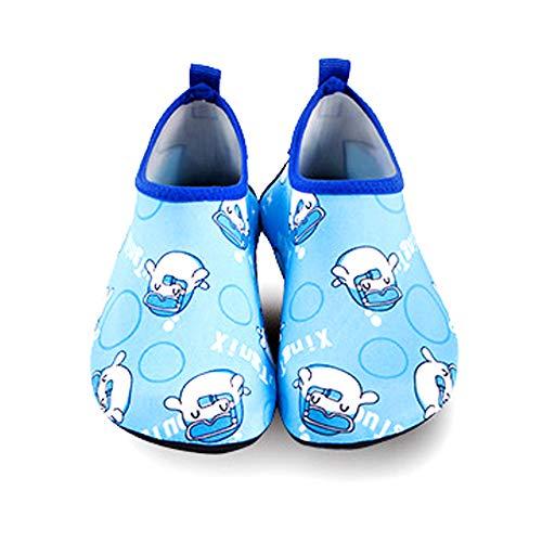 Ikeyo Chaussures Aquatiques Enfants Filles Gar/çons Air Pieds Nus Aqua Yoga Chaussettes pour La Plage en Plein Air Surf