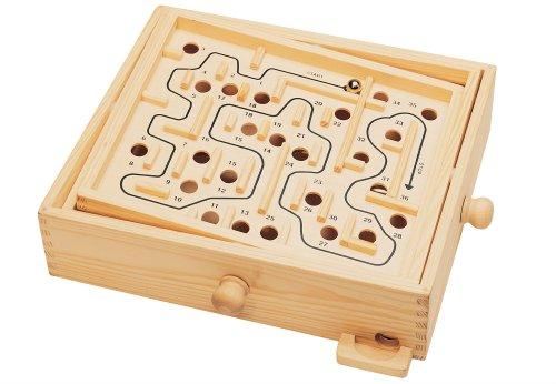 TTC Natural Games Holz Labyrinth Spiel Deluxe Kugelspiel FSC zertifiziert Neu