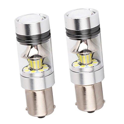 Sharplace Inverseur de Clignotant 1156 BA15S 100W LED Lampe de Voiture 2x