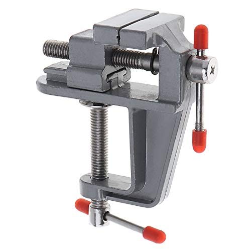 ChgImposs Mini Aluminum Alloy DIY Jaw Bench Clamp Drill Press Vice Micro Clip for Clamping Table/Water Pump