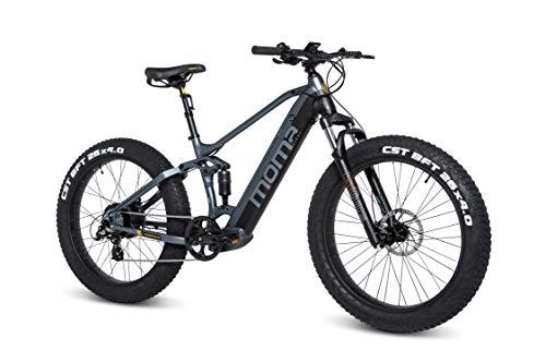 Moma Bikes E-MTB, FATBIKE 26 pulgadas PRO, Equipped Full SHIMANO, Frenos de disco hidráulicos, Batería Litio integrada y extraible 48V 13Ah