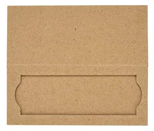 Heathrow HS9903 1-Place Cardboard Slide Holders (Pack of 25)