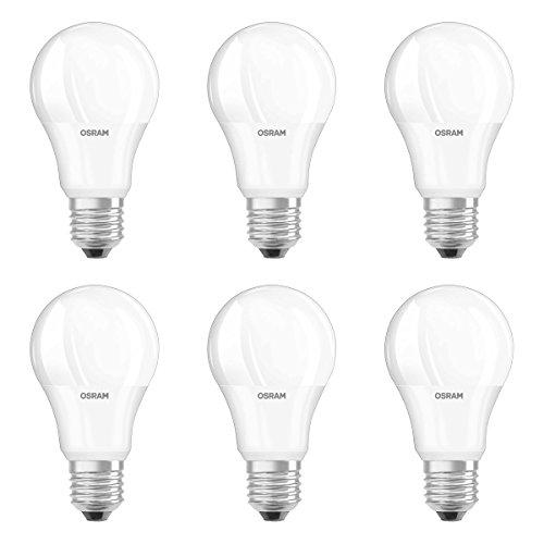 Osram - Lot de 6 Ampoules LED STAR - Forme Standard Dépolie - Culot E27 - 8.5W Equivalent 60W - Blanc Froid 4000K
