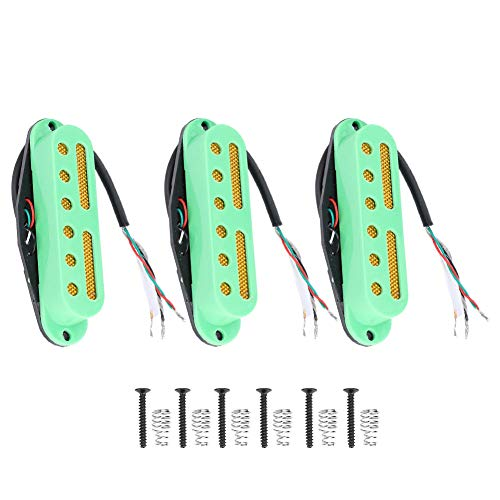 Guitar Pickup Guitar Single Coil Pickup Neck Middle Bridge Pickup Kit Pickup With Frame Guitar Parts Guitar Accessory Musical Instrument Accessory(Green)
