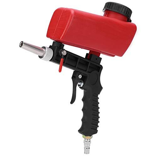 Kit pistola per sabbiatrice, impugnatura ergonomica per pistola industriale per sabbiatura pneumatica, sabbiatrice portatile regolabile per rimuovere vernice, macchie, ruggine