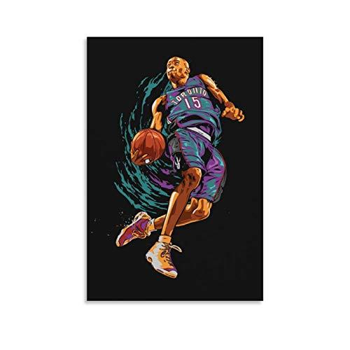TINGTAI Póster clásico de baloncesto de Vince Carter de baloncesto de 40 x 60 cm