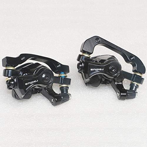 HinGu-Disc brake Ensemble de Freins à Disque Radius VTT Étriers mécaniques Accessoires de vélo Pièces de Montagne for vélo 160mm (Color : 1 Pair Black)