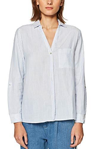 edc by ESPRIT Damen 029CC1F013 Bluse, Weiß (Off White 110), Small (Herstellergröße: S)