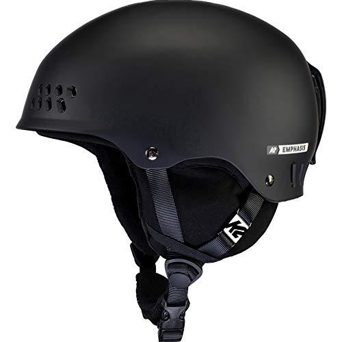 K2 Ski Damen Emphasis Skihelm, Black, M (55-59cm)