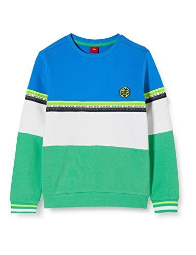 s.Oliver Junior Sweatshirt Langarm Maillot de survêtement, 7588 Palm Tree, 116/122/Reg Garçon