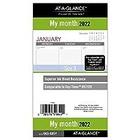 AT-A-GLANCE 2022 マンスリープランナー リフィル 87129 デイタイマー 3-3/4インチ x 6-3/4インチ サイズ3 (063-685Y)