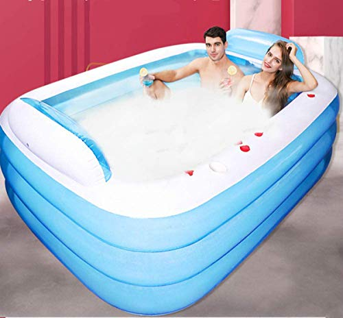YUMO 2020 Swimming Inflatable Bath Pool Paddling Pools Hot Tub New Double Bathtub Three Layers Are Not Afraid of...
