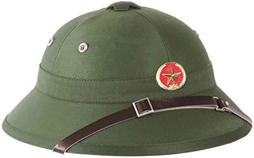 Mil-Tec Casque OU Chapeau Colonial Tropique VIETCONG Viet NAM Vert Miltec 16685000 Defile Parade Decoration