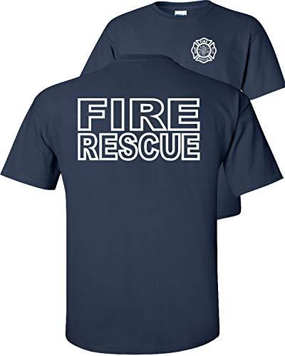 Fair Game Fire Rescue T-Shirt Fire Department Duty Firefighter Adult Unisex-Navy-M