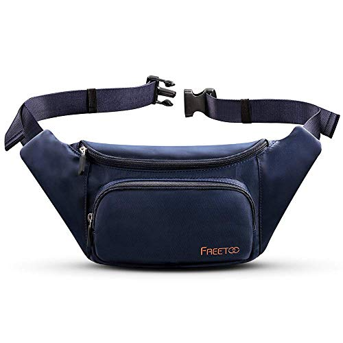FREETOO Bum Bag Large Capacity Waterproof Waist Pack Bag Women Men Fanny Pack with Durable Zippered Pockets for Phone keys Accessories Ideal for Outdoor Sport Hiking Walking Cycling