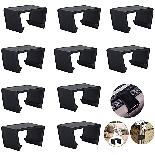 10 Stück schwarz Extra Starke Verbinder Patio Möbel Clips Für Lounge Set Clips,Anschluss-Clips/Klemmbefestigungen Für Rattan-Möbel,Gartenmöbel Rundrattan Verbindungsstück Plastik