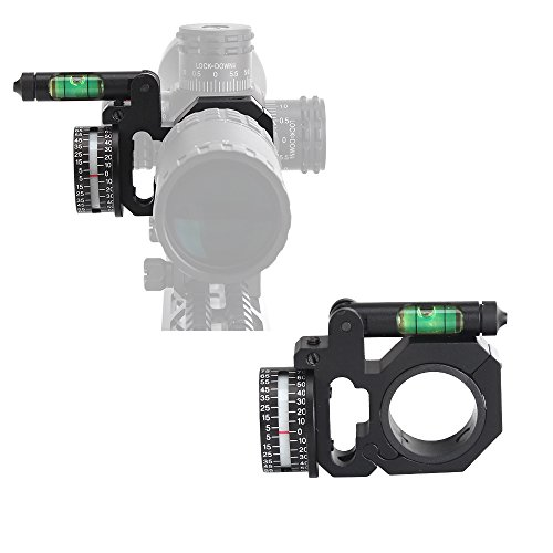 ohhunt High Accuracy Angle Cosine Indicator Kit and Bubble Level Fit 1 inch 30mm Tube Rifle Scope Mounts Light Weight Made of Aluminum