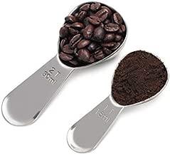 Groupcow Stainless Steel Coffee Measure Scoop 2pcs (15ml & 30ml) Silver