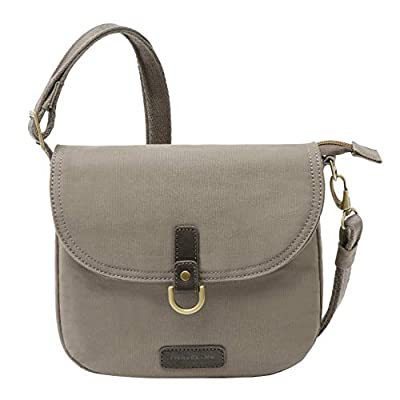 Travelon: Anti-Theft Courier Saddle Crossbody Bag - Gray