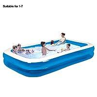 家族の膨脹可能なプールは大人の子供のための厚くされた家族のプール、ポリ塩化ビニールの折る耐久の水泳センター家族の膨脹可能なプールの家族の子供の大人の浴槽(1-2Pのための110cm、青-2Fly)