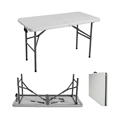 Denny Shop 4ft, 5ft & 6ft Camping Catering Heavy Duty Folding Trestle Table For BBQ Picnic Party by Crystals (4ft Trestle Table)