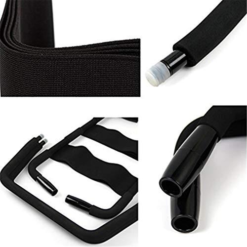 Jingliuliu S  X Silla Silla de Amor Taburete - Súper Duradero y fácilmente ensamblar un tamaño Sostenga de hasta 300 Libras (Negro)