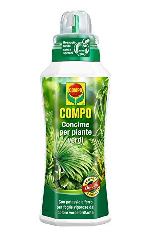 Compo, Concime Liquido Per Piante Verdi, Per Foglie Rigogliose, 500 Ml, 7.0x6.3x27.5 cm