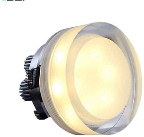 KaiKai Lámpara de Techo Luces de Techo del Punto Lightinground Cristal llevó Downlight 1W 3W 5W 7W llevó empotrada en el Techo Luz del Punto de luz hacia Abajo for decoros caseros de cocina-1W_Round