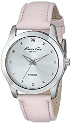 """powerful Ladies Watch Kenneth Cole New York KC2858 """"Lockout"""" made of diamond and pink stainless steel …"""