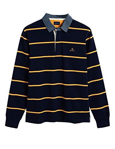 Guante 2025024-433 Breton Stripe Heavy Rugger Polo Rugby Hombre Manga Larga 100% Algodón Regular Fit
