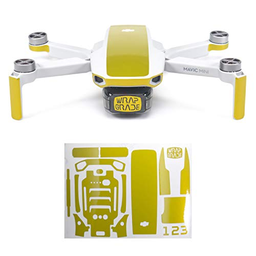 WRAPGRADE Colore di Accento Skin Compatibile con DJI Mavic Mini (LIMONCINO Yellow)