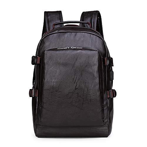 ZJX168 Rugzak met diefstalbescherming, voor dames en heren, elegant, van leer, voor rugzakken, 15,6 inch (15,6 inch) 43 * 35 * 13 CM Bruin