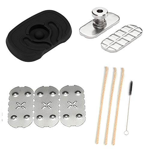 [3 Pack] Screens for Px 2 Px 3,Black Flat Mouthpiece, Adjustable Sandwich Pusher and 3D Bottom Screen Compatible with px 2 & px 3, [3+1] Pipe Cleaners Hard Bristle and Black Brush for Cleaning