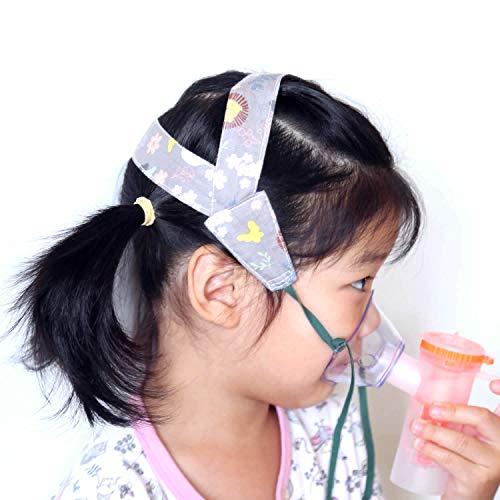 No-Slip Nebulizer Head Strap for Cool Mist Inhaler Secure Comfortable Adjustable Mask Strap Mask Holder for Children Kids