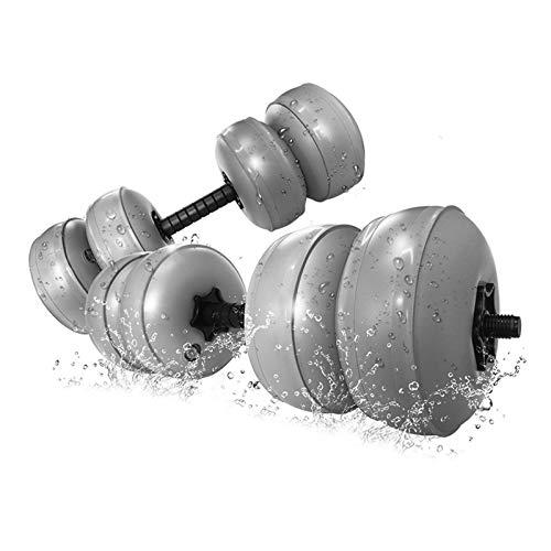 FreshWater 1 par de mancuernas de viaje con relleno de agua ajustable de 35 a 35 kg, mancuernas portátiles suaves para hombres y mujeres en el hogar, gimnasio, deportes, taburete de entrenamiento