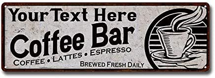 Personalized Sign Coffee Cafe Java Kitchen Restaurant Sign # 4 Custom USA M