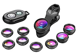 in budget affordable Apexel Phone Camera Lens-Macro Lens + Wide Angle Lens + Fisheye Lens + Telephoto Lens + CPL / Flow / Radial / Star…