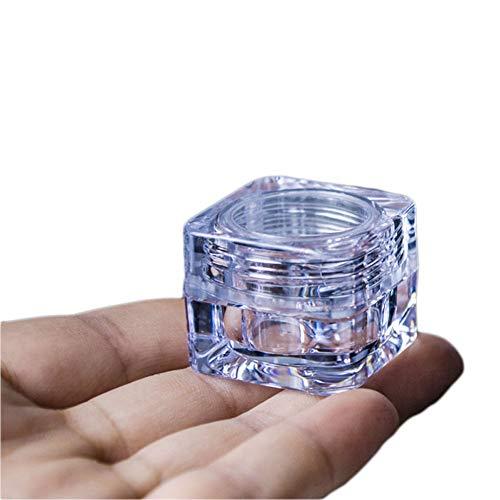 Wilotick Lot de 12 Flacons pour Produits Cosmétiques - en Acrylique transparent - pour Crème du contour des yeux, maquillages, fards à paupières, bocaux d'échantillon - 5 g, 5 ml