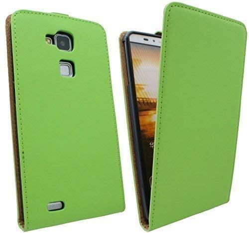 ENERGMiX Handytasche Flip Style kompatibel mit Huawei Ascend Mate 7 in Grün Klapptasche Hülle