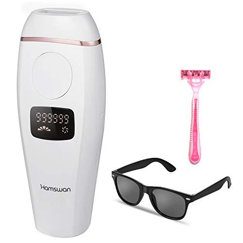 IPL Haarentfernungsgerät Laser Haarentfernungssystem Lichtbasierte Haarentfernung Haarentfernungsvorrichtung Haarbehandlung Schmerzfrei 999.999 Blitze Ganzkörper-Heimgebrauch für Körper & Gesicht