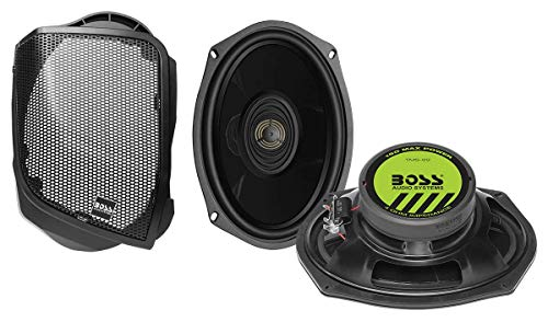 BOSS Audio Systems BHD14 Harley Davidson 6 x 9 Inch Saddlebag Speaker Kit – Fits Select 2014+ Road Glide and Street Glide Motorcycles, 300 Watts of Power Per Pair, Full Range, 2 Way, Sold in Pairs