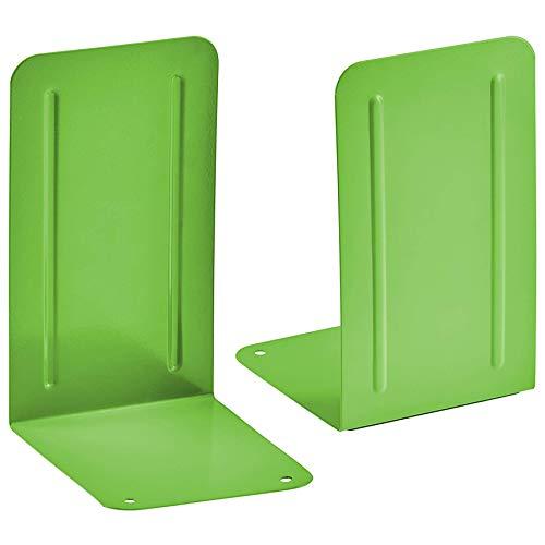 Acrimet Premium Metal Bookends (Heavy Duty) (Green Citrus) (1 Pair Pack)