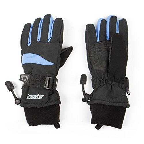 Gregster Damen Skihandschuhe, Schwarz/Blau, XL, 11425