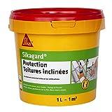 Sika 464375 Sikagard pintura de cubiertas de goma para protección inclinado de 1 L, color beige