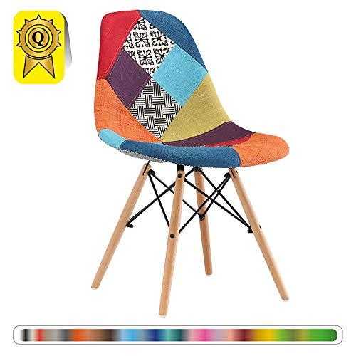 Decopresto 1 x Chair Designer Gambe: Legno Naturale...