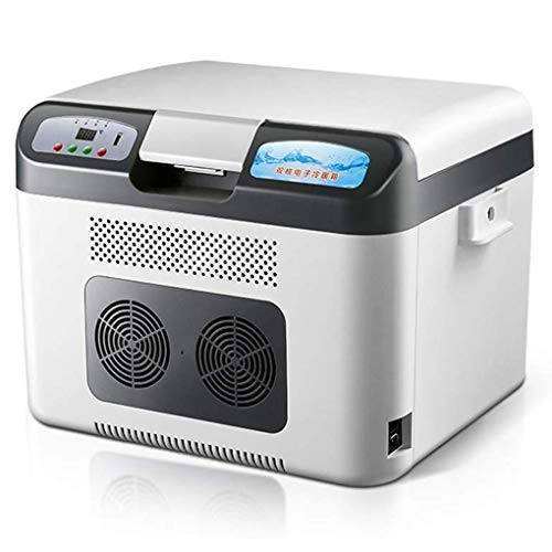 Buy YHLZ Mini Fridge, 24V Digital Display Temperature Adjustable Refrigeration 12V Car Home Dual-use...