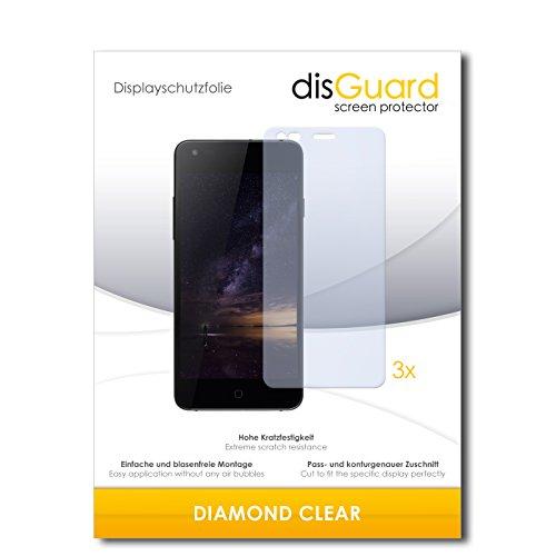 disGuard 3 x Schutzfolie Siswoo I8 Panther Bildschirmschutz Folie DiamondClear unsichtbar