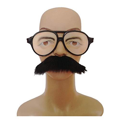 Linyuex Apoyos Beard Falso Falso Barba-vidrios Divertidos con la Auto-Adhesiva Bigote Broma Disfraz ejecucin Suministro del Partido de Cosplay Puntales