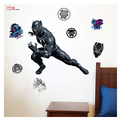 """Decalcomania Marvel Black Panther 22"""" x 25"""" Wall Decal with 3D Augmented Reality Interaction"""